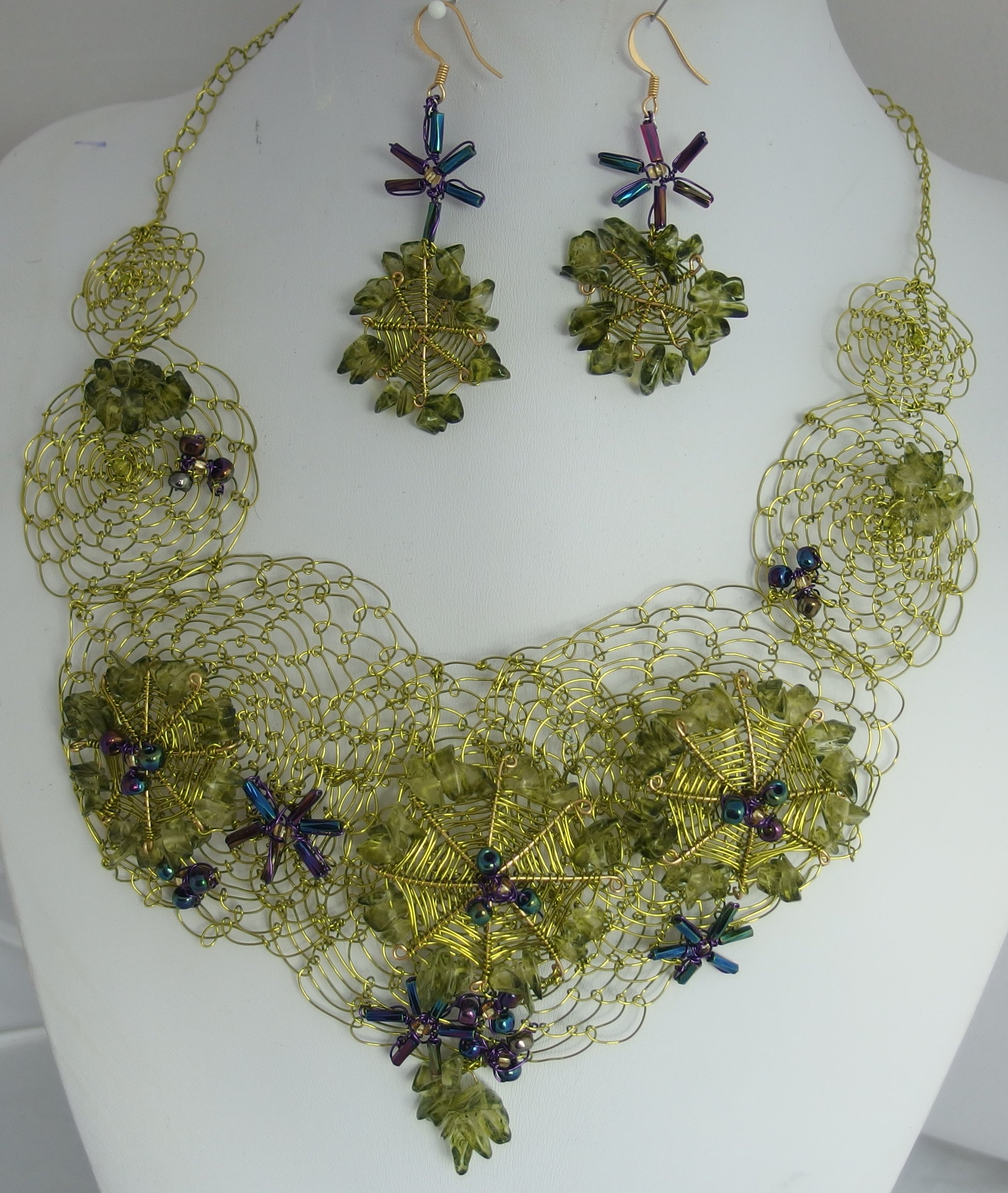 Necklace and earings by Mary Hedges